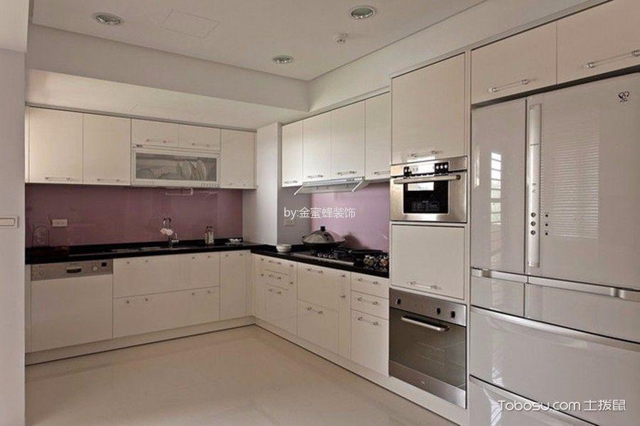 厨房紫色背景墙混搭风格装修图片