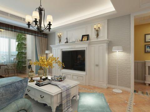 客厅背景墙田园风格装饰设计图片