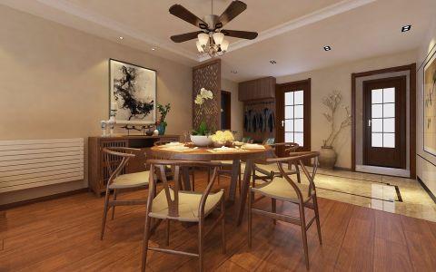 新中式风格140平米套房房子装饰效果图
