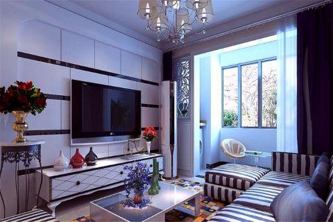 现代简约风格94平米楼房室内装修效果图