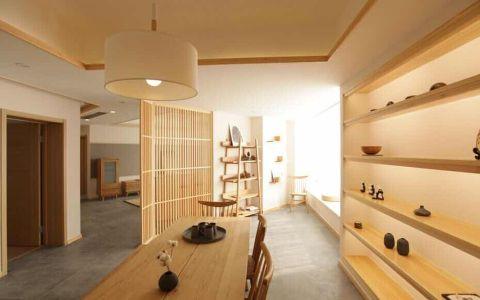 餐厅餐桌日式风格装潢设计图片