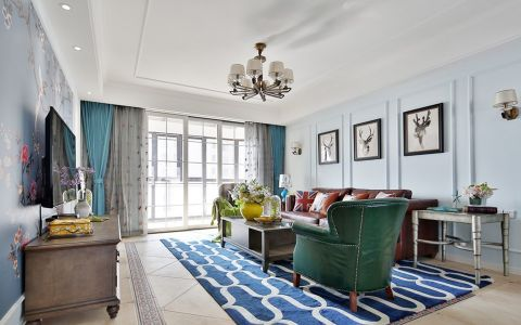 混搭风格80平米2房2厅房子装饰效果图