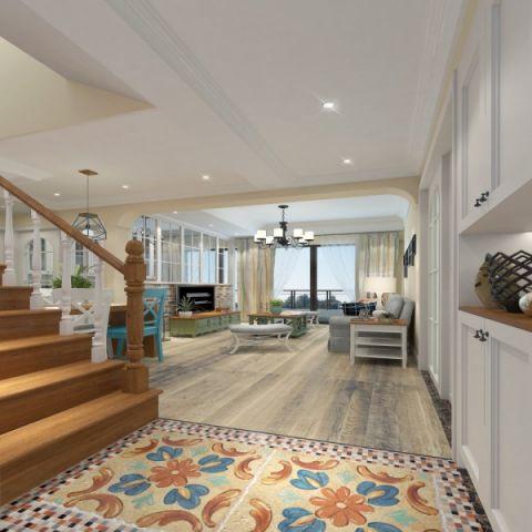 客厅楼梯地中海风格装修设计图片