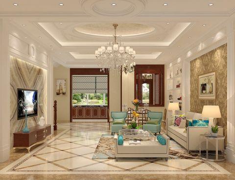 现代欧式风格350平米别墅室内装修效果图