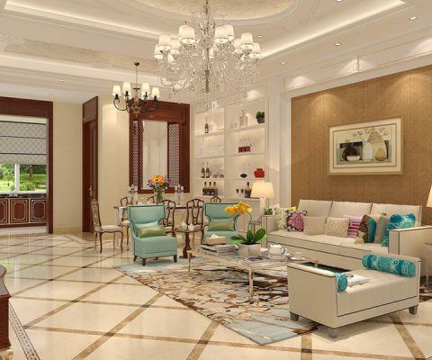 客厅背景墙现代欧式风格装修设计图片