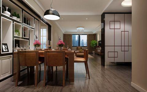 餐厅博古架简约风格装潢效果图