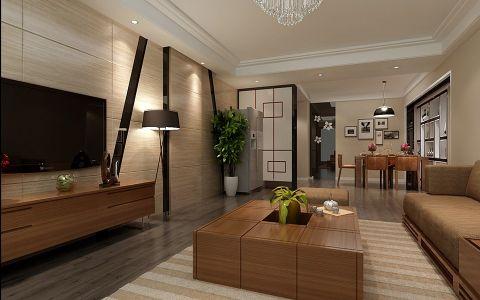 客厅茶几简约风格装修图片