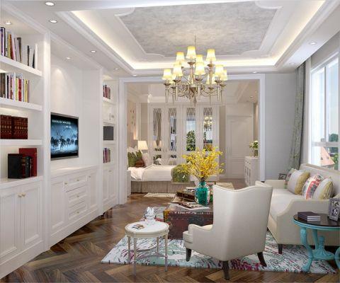 卧室博古架现代欧式风格效果图