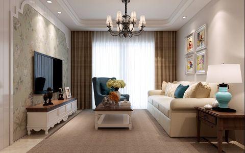 美式风格90平米2房2厅房子装饰效果图