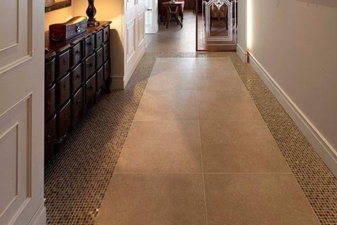 玄关地板砖混搭风格装潢设计图片