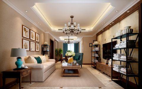 美式风格134平米四房2厅房子装饰效果图