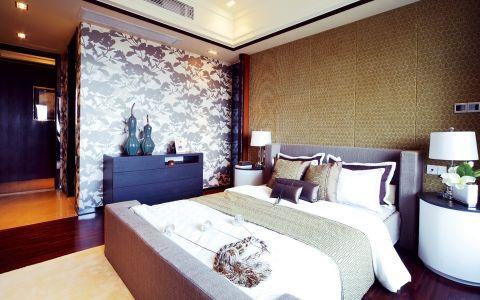 卧室背景墙中式古典风格装饰效果图