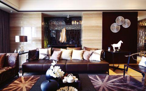 客厅背景墙中式古典风格装潢图片