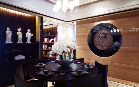 餐厅背景墙中式古典风格装修设计图片