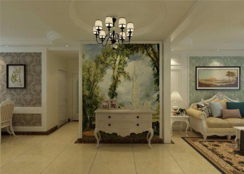 玄关灯具简欧风格装潢设计图片