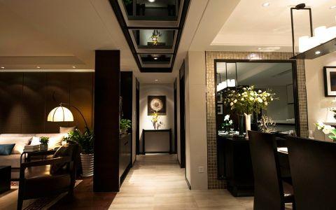 客厅走廊新中式风格装饰效果图