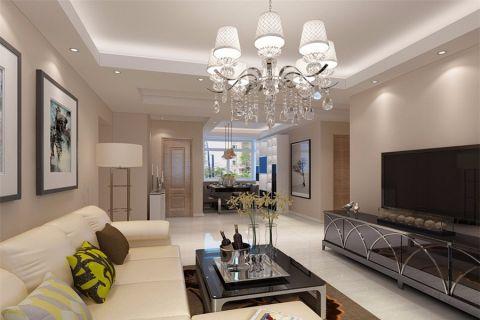 客厅灯具简约风格装潢效果图