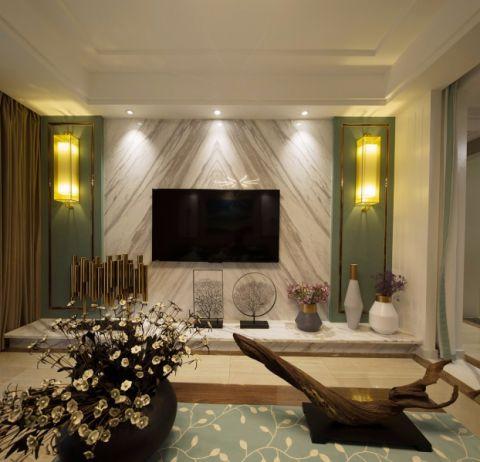 现代简约风格138平米三室两厅室内装修效果图