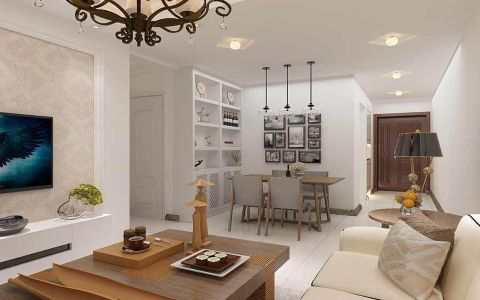 现代风格100平米2房2厅房子装饰效果图
