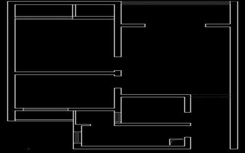 裕花园现代两居室实景效果图