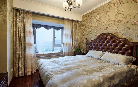 卧室背景墙古典风格装潢设计图片
