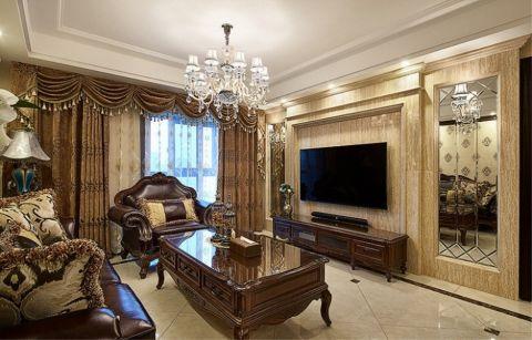 客厅灯具古典风格效果图