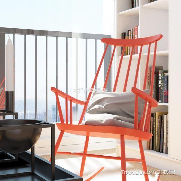 客厅彩色细节简约风格装饰设计图片