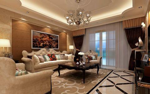 欧式风格150平米4房2厅房子装饰效果图