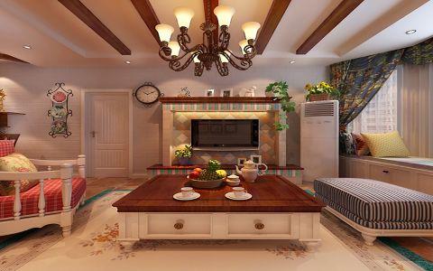 田园风格155平米大户型室内装修效果图