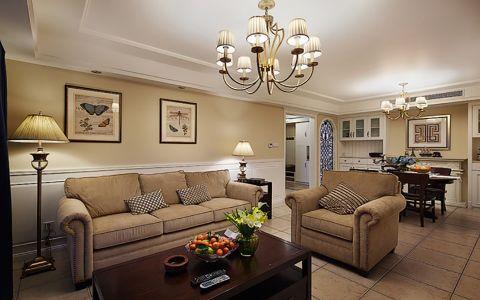美式风格115平米小户型室内装修效果图