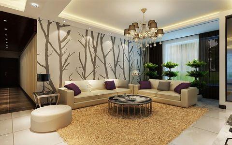 现代风格104平米小户型室内装修效果图