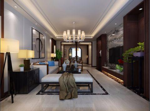 中式风格160平米大户型室内装修效果图
