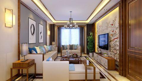 客厅照片墙新中式风格装修图片