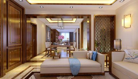 客厅隔断新中式风格装修设计图片
