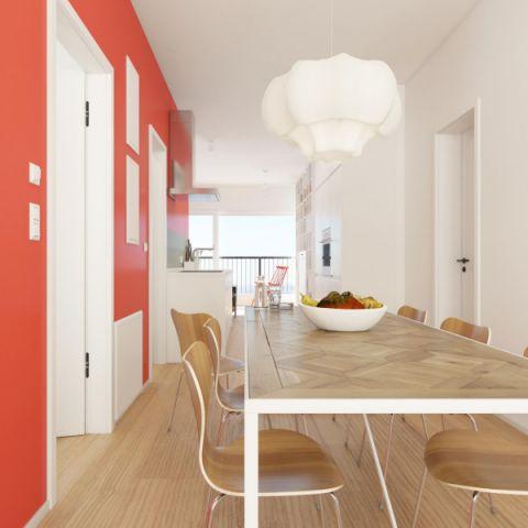 简约风格70平米两房两厅新房装修效果图