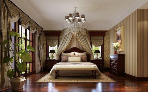 卧室推拉门美式风格装修效果图