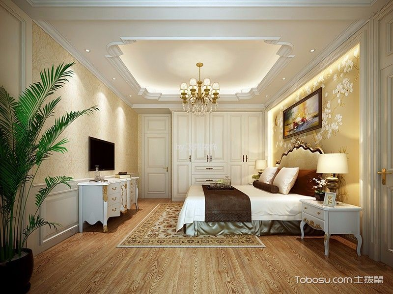 欧式风格350平米三房两厅新房装修效果图
