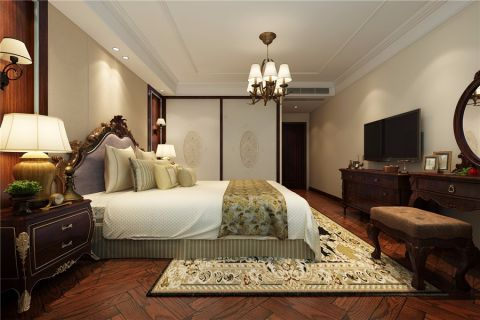卧室灯具简欧风格装修设计图片
