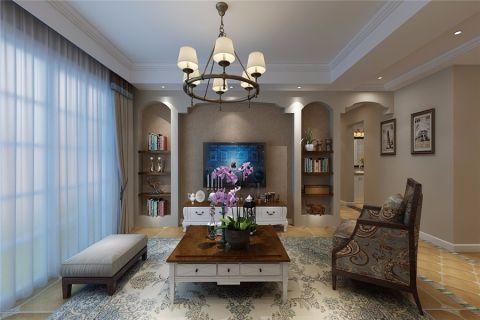 客厅灯具美式风格装潢设计图片