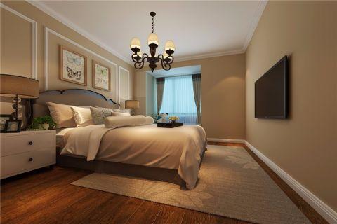 卧室灯具美式风格装潢图片
