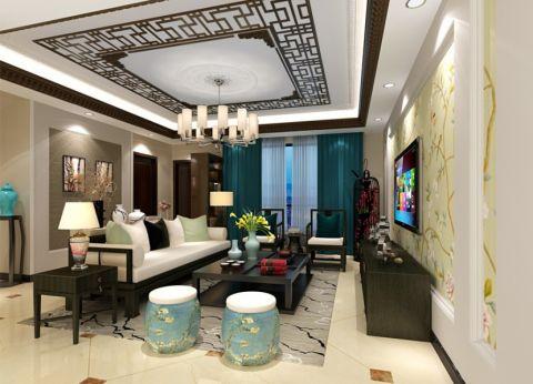 中式风格250平米别墅室内装修效果图
