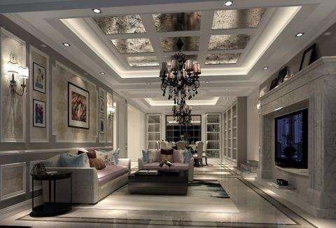 简欧风格250平米别墅室内装修效果图