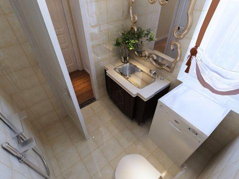 卫生间洗漱台简欧风格装潢效果图