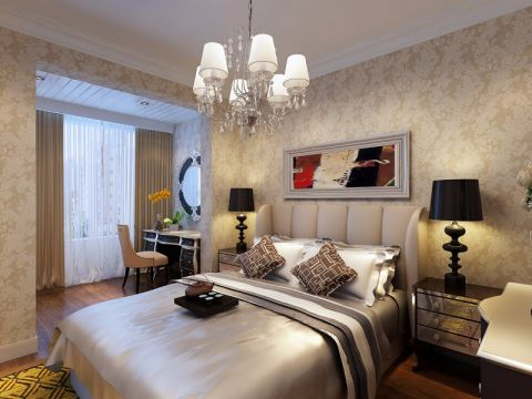 卧室灯具简欧风格装饰图片