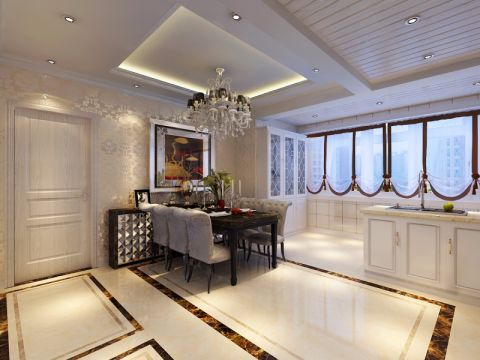 厨房橱柜简欧风格装饰效果图