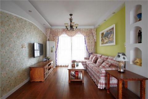 田园风格94平米3房2厅房子装饰效果图