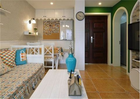地中海风格88平米2房2厅房子装饰效果图