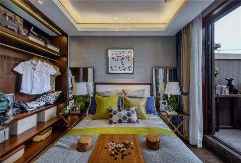 卧室窗帘中式风格装潢效果图
