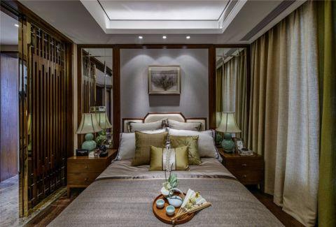 卧室窗帘中式风格装修图片