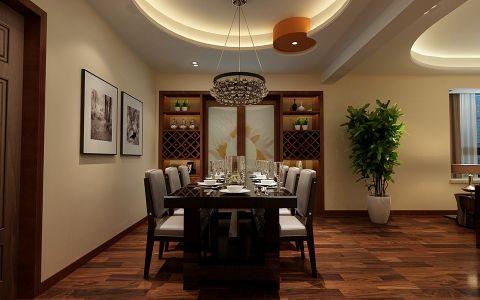 餐厅博古架简约风格装饰设计图片